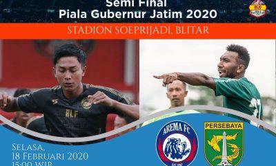 Prediksi Arema FC vs Persebaya: Pertandingan Semifinal Piala Gubernur Jatim 2020 - 18 Februari 2020 - Live Streaming Link