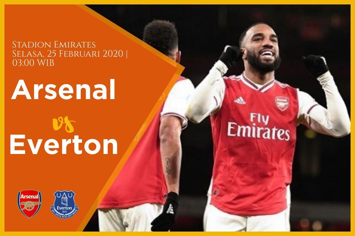 Prediksi Arsenal vs Everton: Pertandingan Liga Inggris Pekan Ke-27 - 23 Februari 2020 - Live Streaming Link