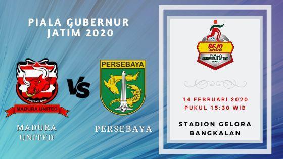 Prediksi Madura United vs Persebaya: Pertandingan Piala Gubernur Jatim 2020 Grup A - 14 Februari 2020 - Live Streaming Link