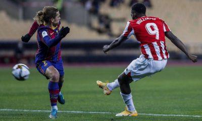 Inaki Williams membawa kemenangan pada Bilboa dalam pertandingan Barca vs Bilbao Club di Piala Super Spanyol 2021. Messi mendapatkan kartu merah.