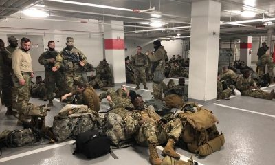 Pengawal Nasional AS Tidur di Garasi Mobil. dbrnews