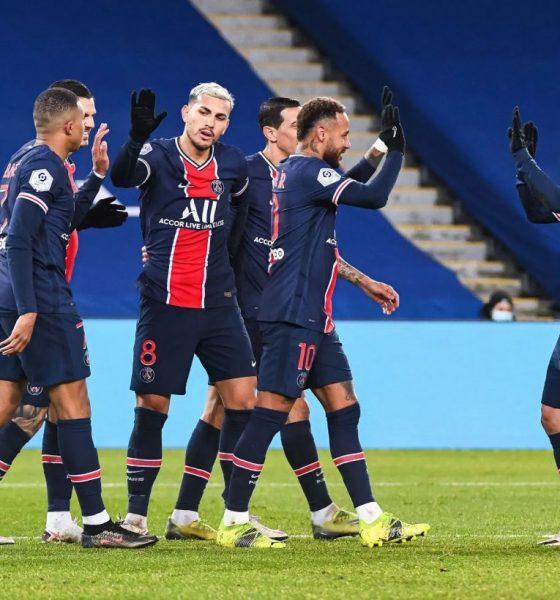 PSG menang dalam pertandingan melawan Montpellier.