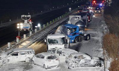 Tabrakan beruntun di jalan tol Jepang mengakibatkan 1 orang tewas dan 11 orang terluka