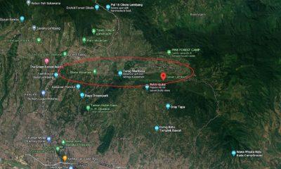 Perkiraan Wilayah Sesar Lembang Bandung Barat