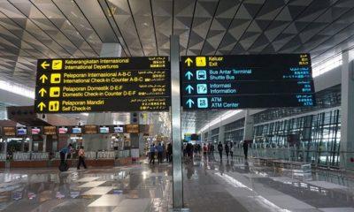 Terminal 3 Bandara Soekarno Hatta. 153 WNA Asal Cina Masuk ke Indonesia di tengah pandemi COVID-19.