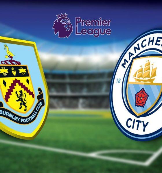 Logo Burnley versus Manchester City