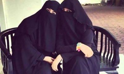 Umi Pipik dan Soraya Abdullah mengenakan cadar hitam. Soraya Abdullah meninggal dunia.