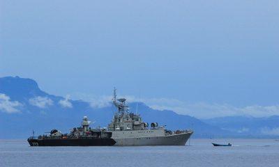 ILUSTRASI Kapal Perang di Lautan yang digunakan oleh TNI AL untuk mengangkut bantuan bencana ke Sulbar dan Kalsel